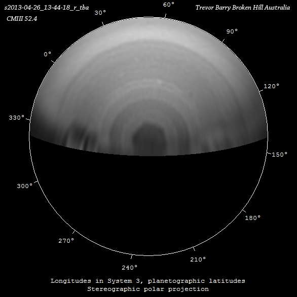 April 26th 2013 13-44-18 UTC R channel Polar Projection